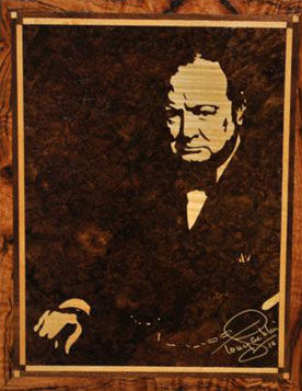 Churchill marquetry