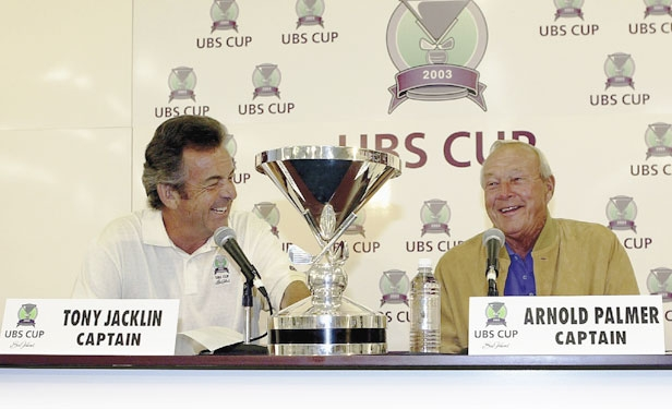Tony Jacklin and Arnold Palmer